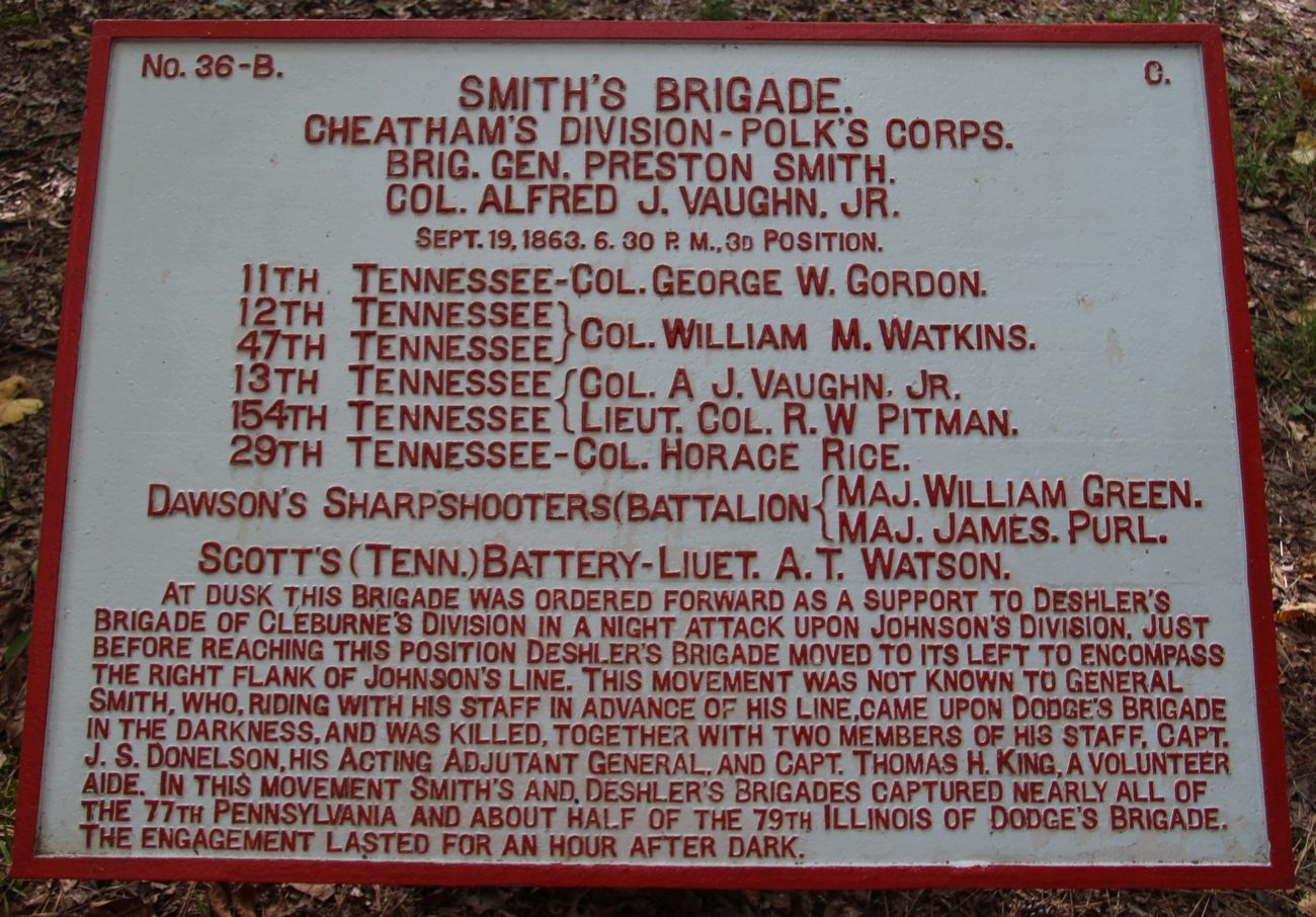 Smith's Brigade Marker image. Click for full size.