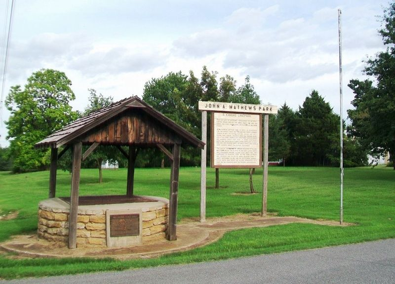 John A. Mathews Park and Marker image. Click for full size.