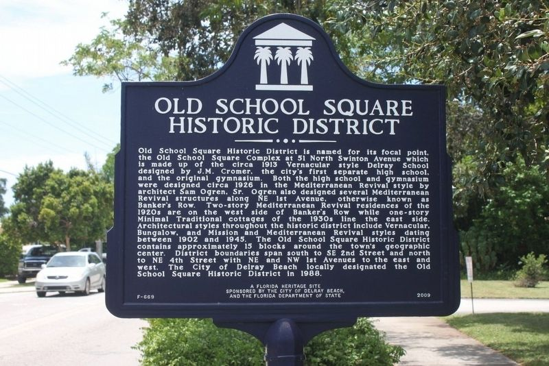 Old School Square Historic District Marker image. Click for full size.