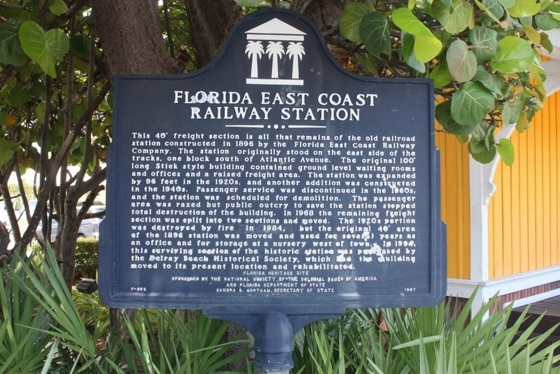 Florida East Coast Railway Station Marker image. Click for full size.