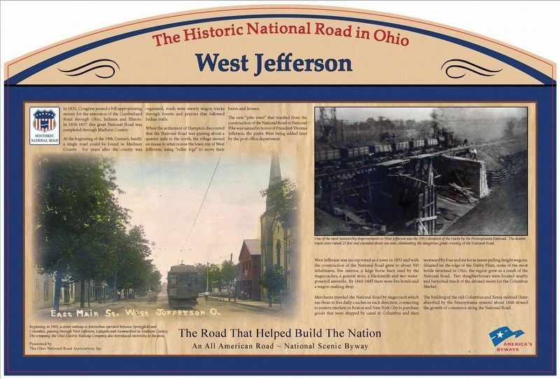 West Jefferson Marker image. Click for full size.