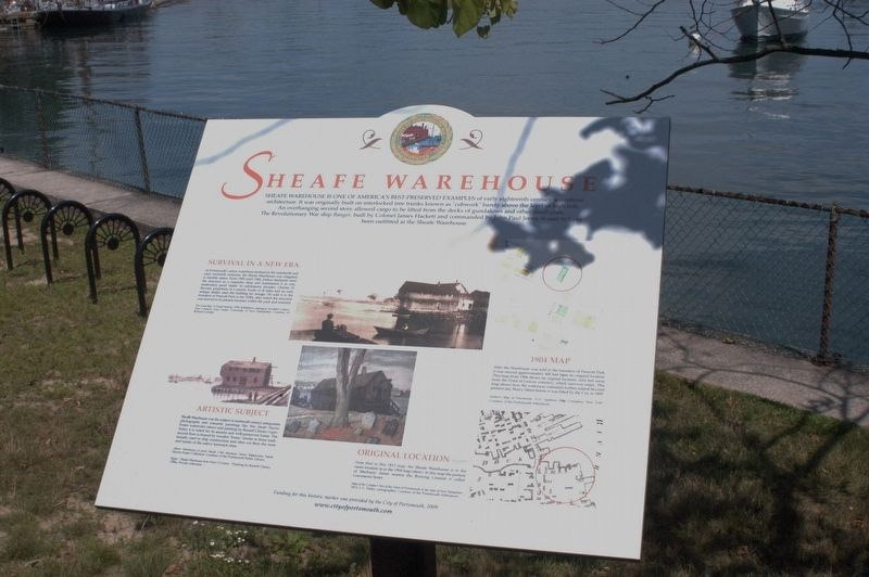 Sheafe Warehouse Marker image. Click for full size.