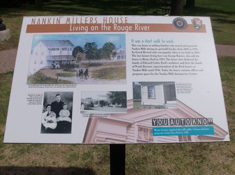 Nankin Millers House Marker image. Click for full size.