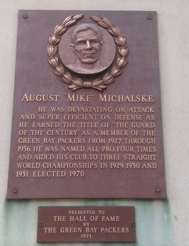 "August ""Mike"" Michalske Marker image. Click for full size."