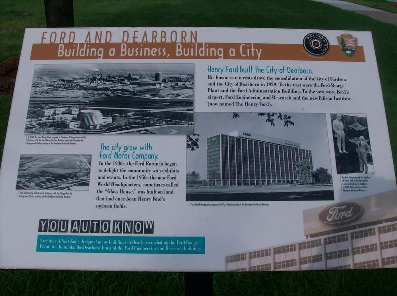 Ford and Dearborn: Building a Business, Building a City Marker image. Click for full size.