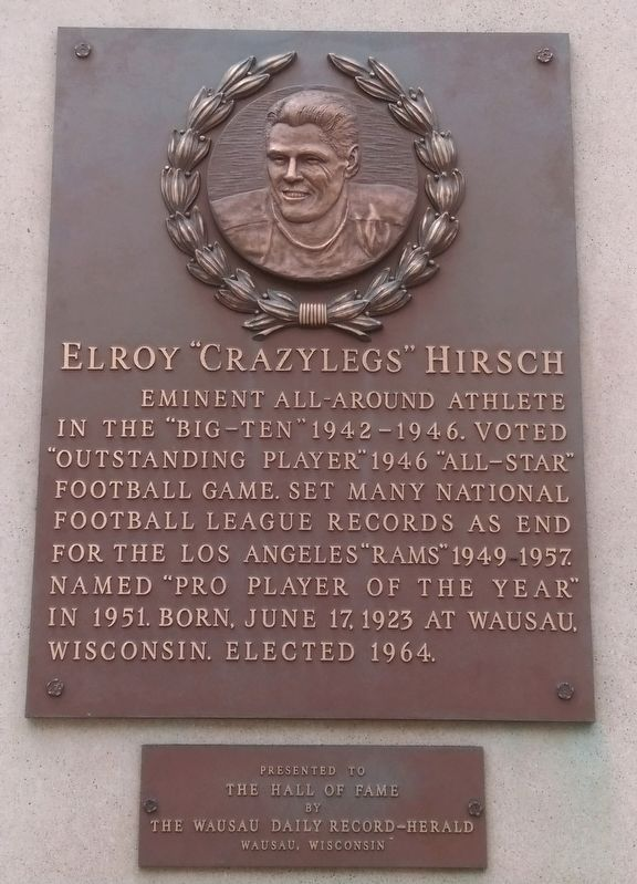 "Elroy ""Crazylegs"" Hirsch Marker image. Click for full size."