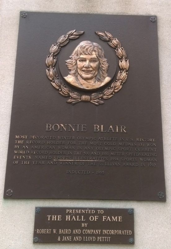 Bonnie Blair Marker image. Click for full size.