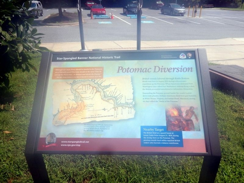 Potomac Diversion Marker image. Click for full size.