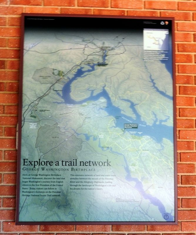 Explore a trail network Marker image. Click for full size.