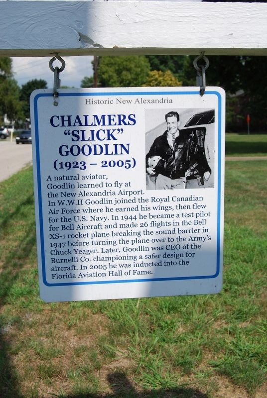 "Chalmers ""Slick"" Goodlin Marker image. Click for full size."