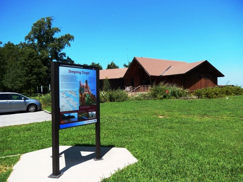 War in the Chesapeake Marker-Visitor Center in the background image. Click for full size.