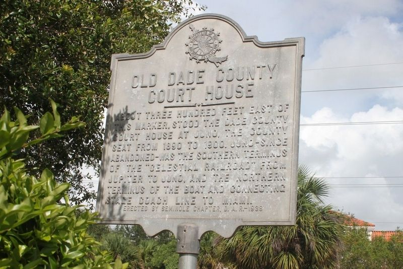 Old Dade County Court House Marker image. Click for full size.