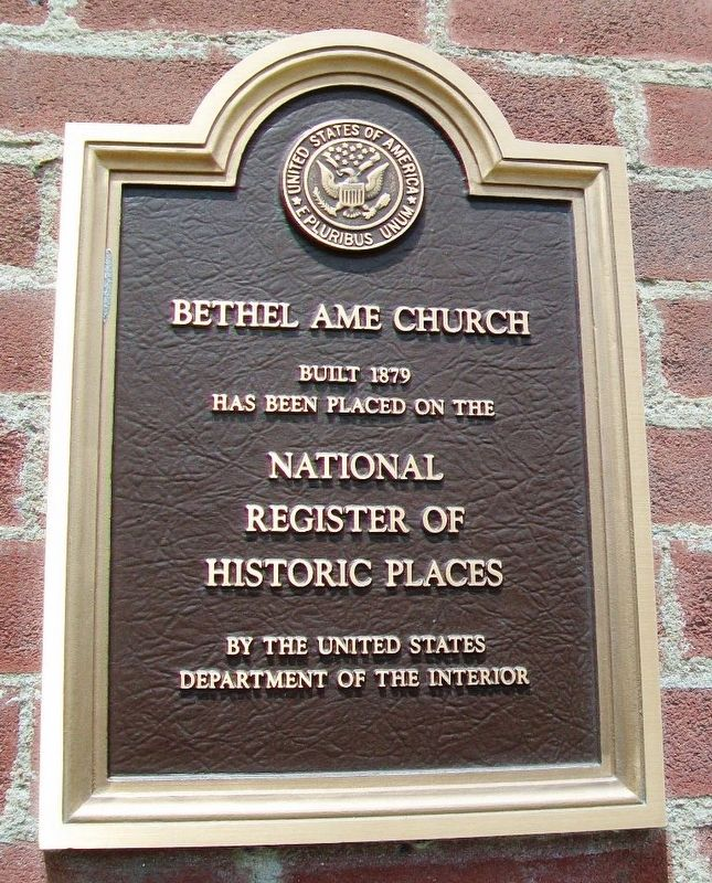 Bethel AME Church Marker image. Click for full size.