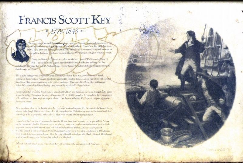 Francis Scott Key Marker image. Click for full size.