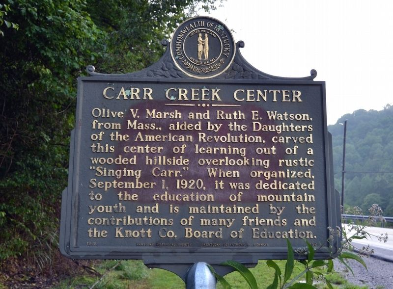 Carr Creek Center Marker image. Click for full size.