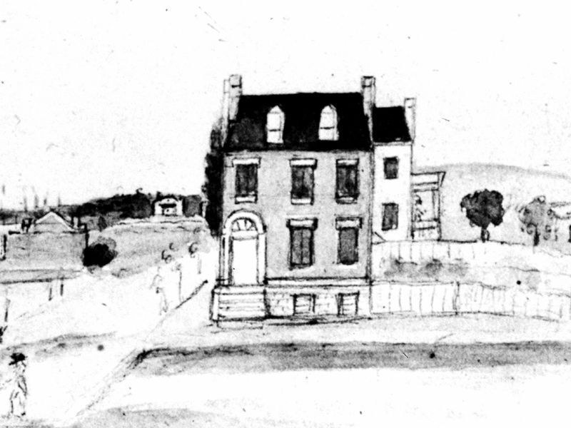 The Cutts House, 1822 image. Click for full size.