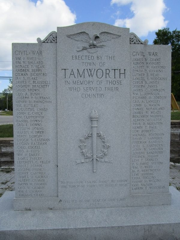 Tamworth Veterans Memorial image. Click for full size.
