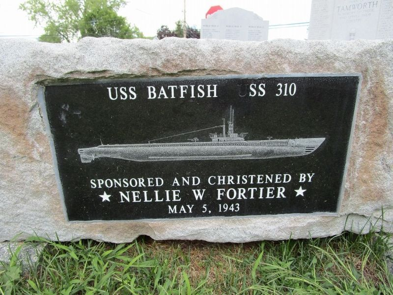 USS Batfish stone image. Click for full size.