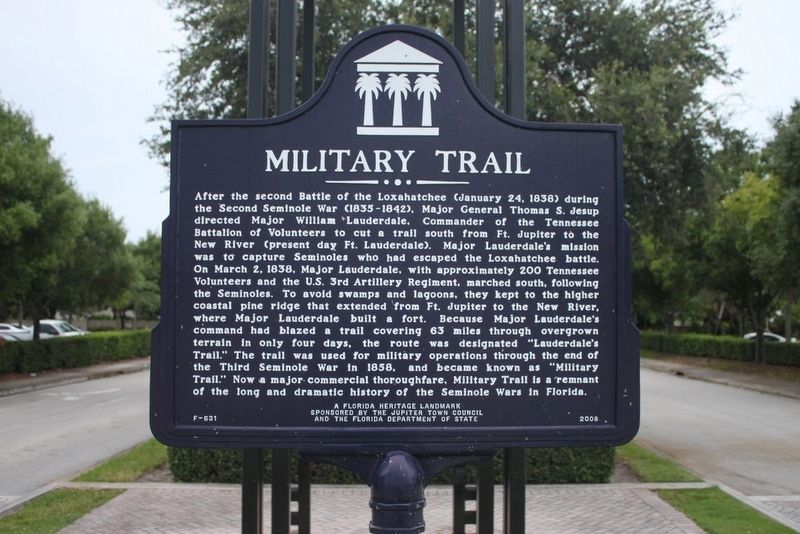 Military Trail Marker image. Click for full size.