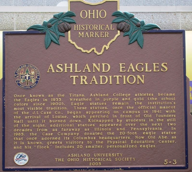 Ashland Eagles Tradition Marker image. Click for full size.