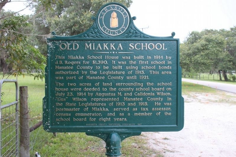 Old Miakka School Marker-Side 1 image. Click for full size.