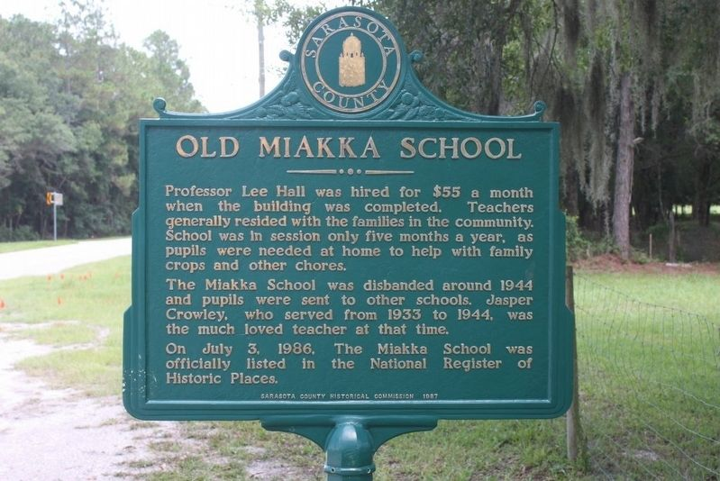 Old Miakka School Marker-Side 2 image. Click for full size.