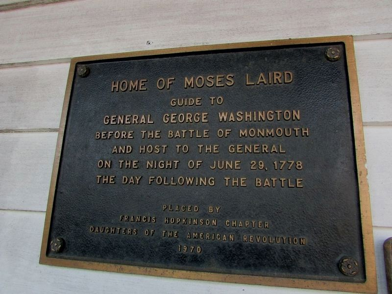 Home of Moses Laird Marker image. Click for full size.