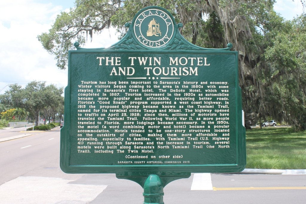 The Twin Motel and Tourism Marker