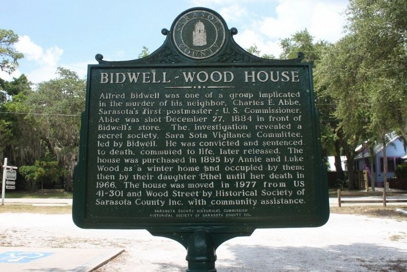 Bidwell-Wood House Marker-Side 2 image. Click for full size.