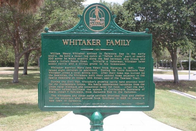 Whitaker Family/Gateway 2000 Executive Committee Marker-Side 1 image. Click for full size.
