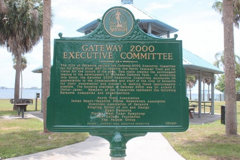 Whitaker Family/Gateway 2000 Executive Committee Marker-Side 2 image. Click for full size.