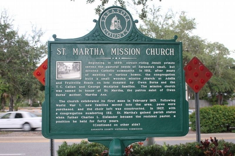 St. Martha Mission Church Marker-Side 1 image. Click for full size.