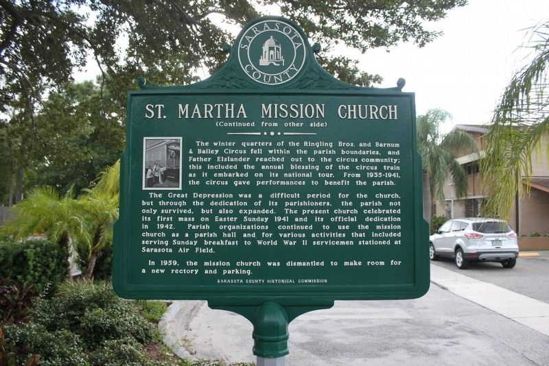 St. Martha Mission Church Marker-Side 2 image. Click for full size.