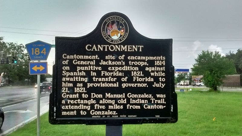 Cantonment Marker image. Click for full size.