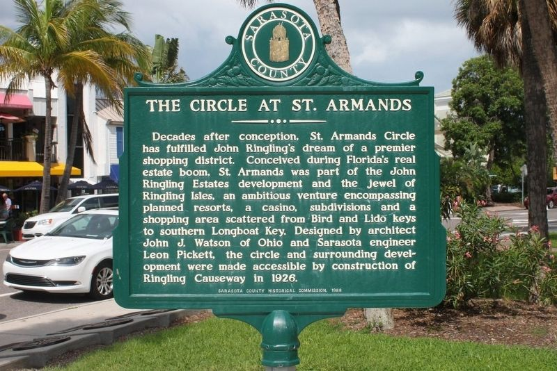 The Circle at St Armands Marker-Side 1 image. Click for full size.