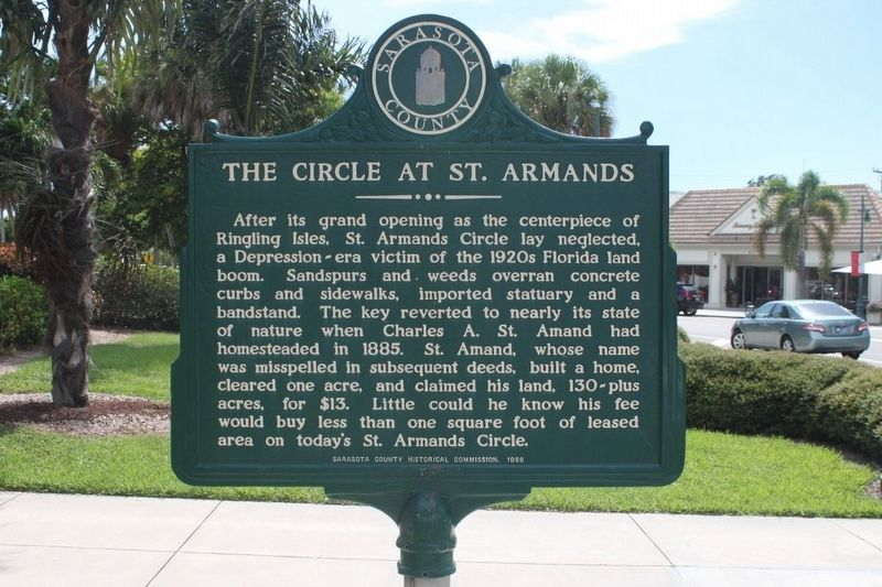 The Circle at St Armands Marker-Side 2 image. Click for full size.