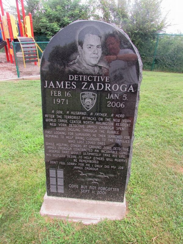 Detective James Zadroga Marker image. Click for full size.