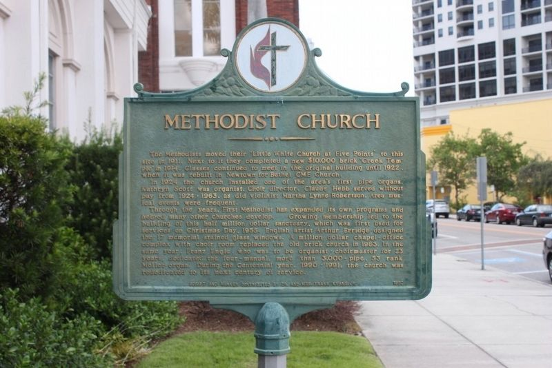 Methodist Church Marker Reverse image. Click for full size.