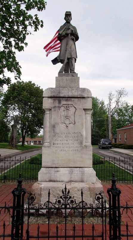 LaFayette - Jackson Township Civil War Memorial Marker image. Click for full size.