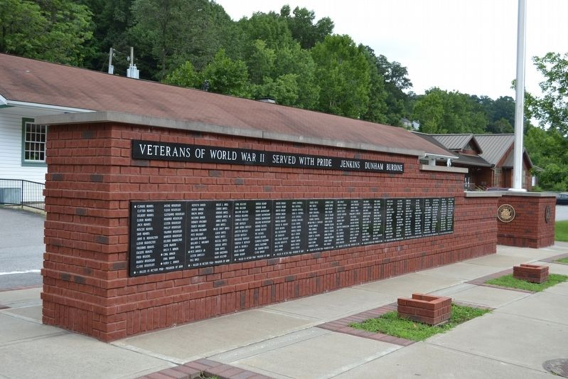 Jenkins - Dunham - Burdine World War II Veterans Memorial image. Click for full size.