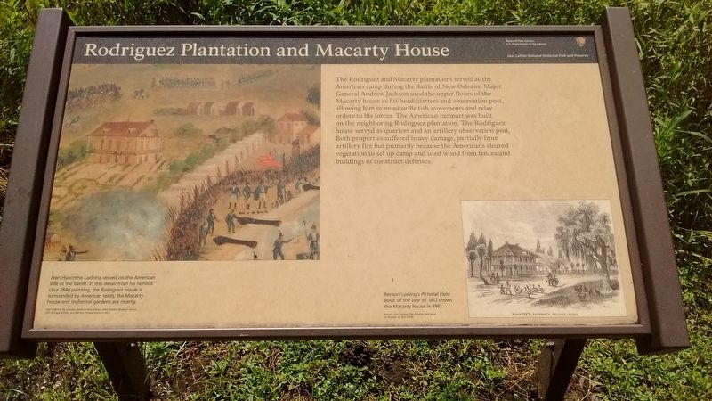 Rodriguez Plantation and Macarty House Marker image. Click for full size.