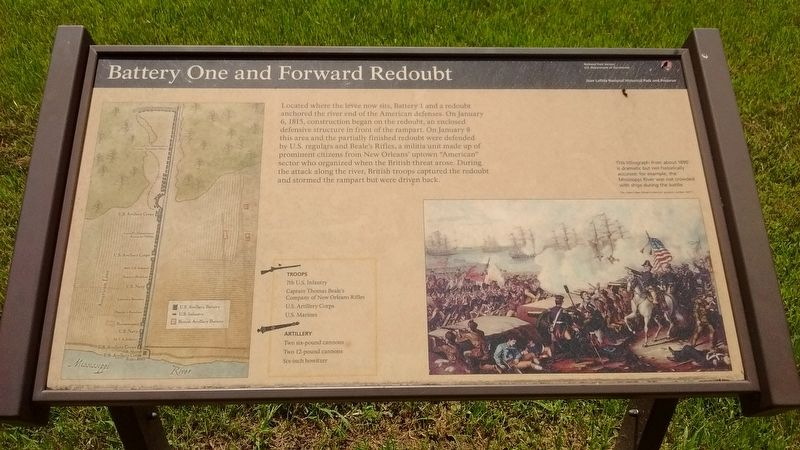 Battery one and Forward Redoubt Marker image. Click for full size.