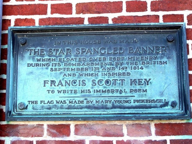 The Star Spangled Banner Marker image. Click for full size.