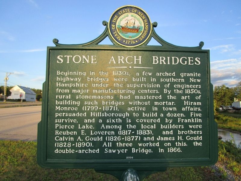 Stone Arch Bridges Marker image. Click for full size.