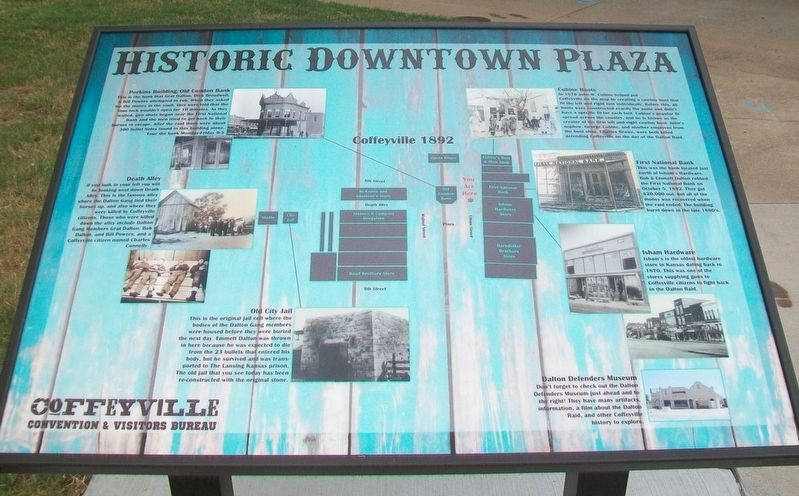 Historic Downtown Plaza Marker image. Click for full size.