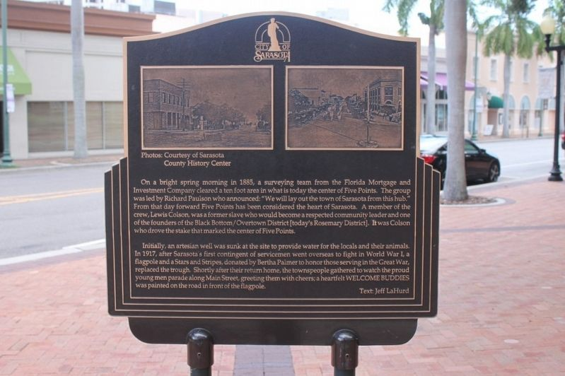 City of Sarasota Marker image. Click for full size.