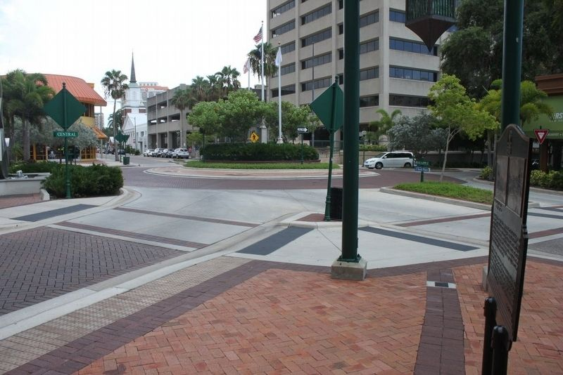 City of Sarasota Marker looking south down Main Street image. Click for full size.