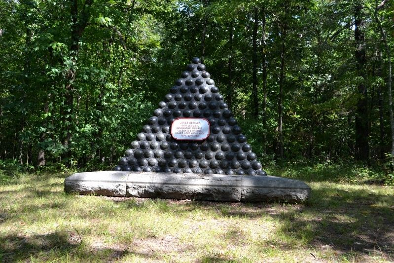 James Deshler Memorial Shell Monument image. Click for full size.