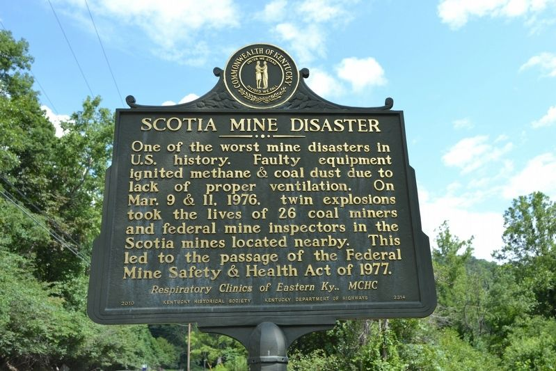 Scotia Mine Disaster Marker image. Click for full size.