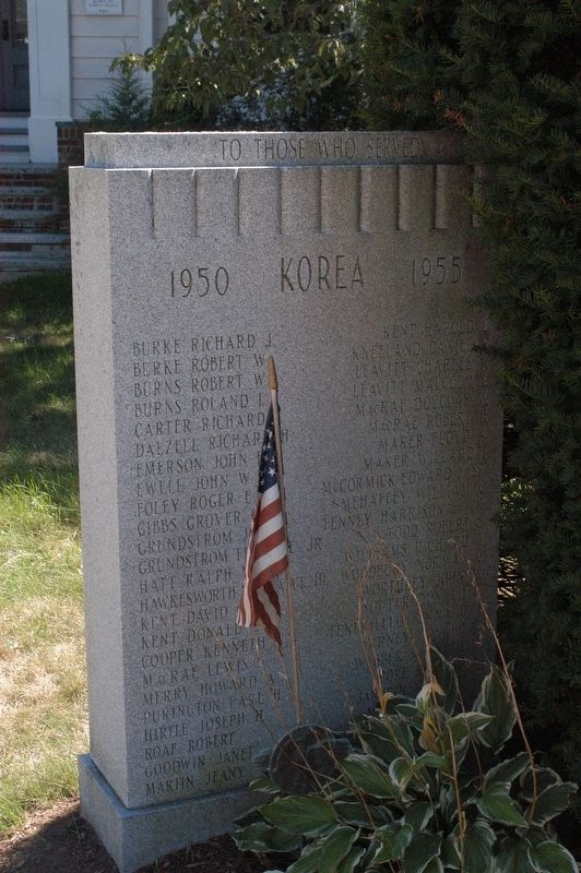 Rowley Massachusetts Korean War Honor Roll Memorial Marker image. Click for full size.